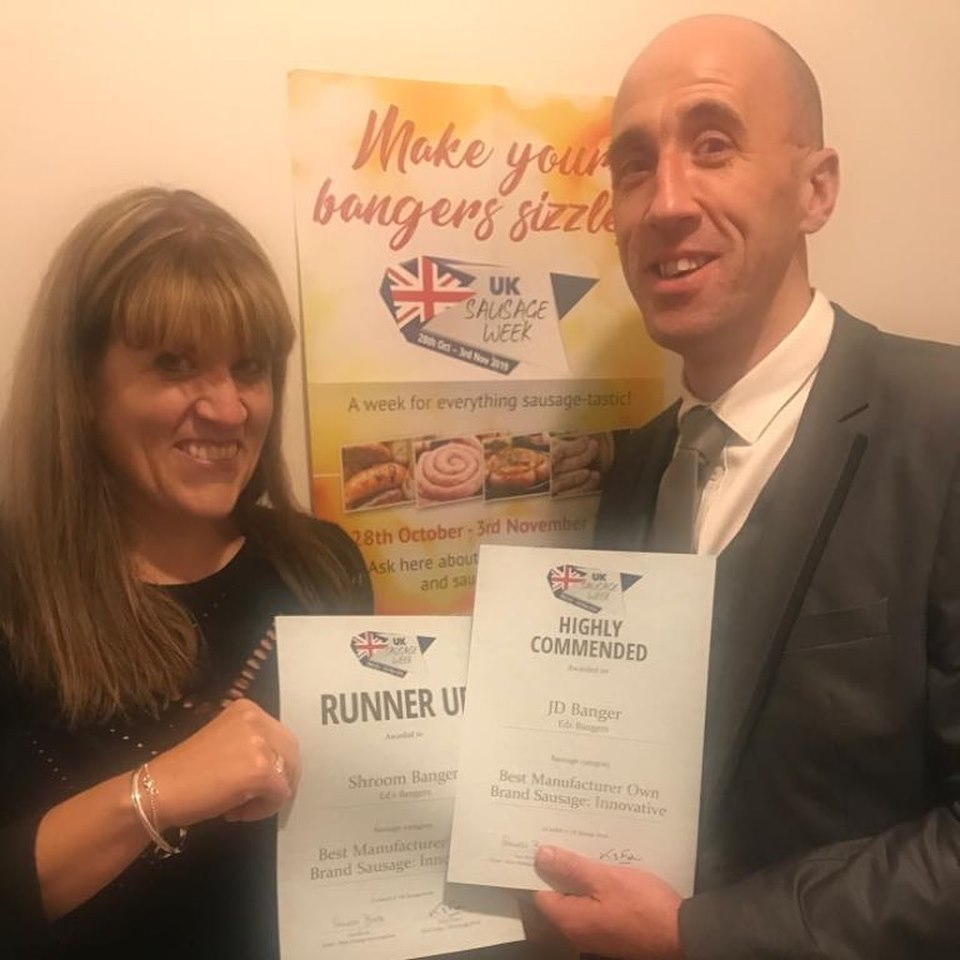 At the Sausage Week awards 2019