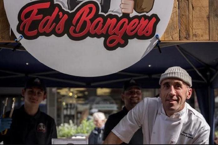 Jason at the Ed's Bangers stall