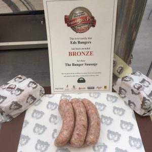 Award-winning Plain Pork sausages 3×6
